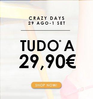 Toda a coleção Spring-Summer a preço único de 29,90€| Exclui linha noivas, produtos de manutenção e modelos Fall-Winter